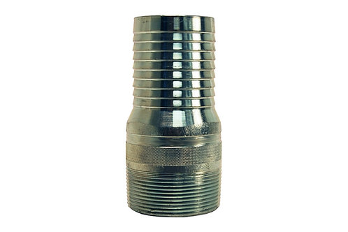 "King Nipple - Combination - 2"" - NPT Threaded - Steel Plated"