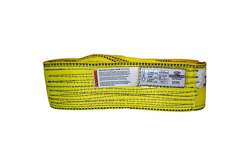"""Lifting Web Sling - 4"""" x 20 FT - Two Ply - Flat Eye - Type 3 - Polyester"""