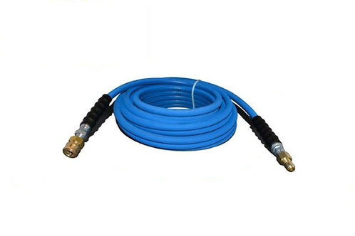 """Pressure Washer Hose - 3/8"""" x 50 FT - With Quick Connect Socket & Plug - 4,000 P"""