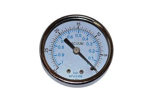 """Dry Vacuum Gauge - 2"""" - 30 to 0 in HG - 1/4"""" CBM"""