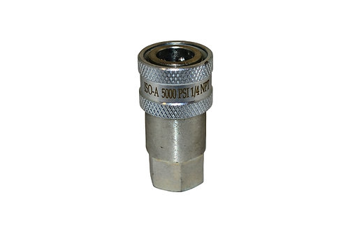 """Hydraulic Quick Coupler - ISO 7241-1 A - 1/4"""" NPT - Female Coupler - 6600 Series"""