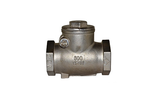 "Swing Check Valve - 1-1/4"" - Stainless Steel"