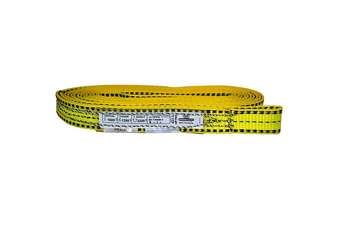 """Lifting Web Sling - 1"""" x 6 FT - One Ply - Flat Eye - Type 3 - Polyester"""