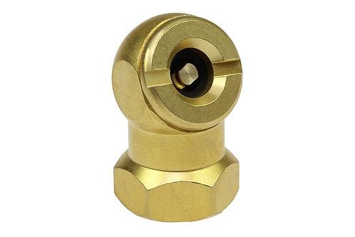 """Ball Chuck - Closed Check - 1/4"""" Female Pipe - Brass"""