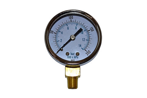 "Utility Dry Gauge - 2"" - 0 to 200 PSI - LM 1/8"" NPT"