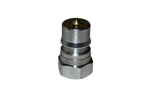 "Hydraulic Quick Coupler - ISO 7241-1 B - 1/2"" NPT - Male Nipple - IRB Series"