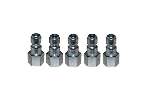 "Automotive Tru-Flate - 1/4"" Plug - 3/8"" Female Pipe Threads - 5 PK"