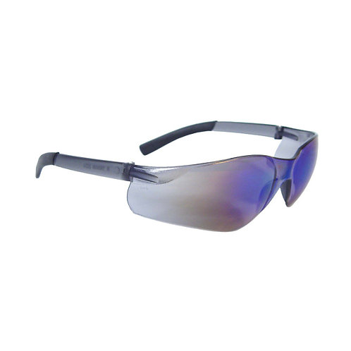 Safety Eyewear - Blue Mirror Lens - Blue Mirror Frame - Radians Rad-Atac