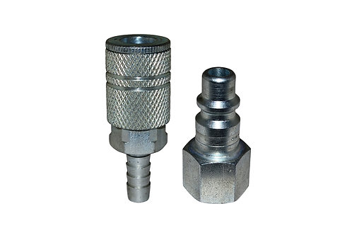 "Industrial Interchange - 3/8"" Coupler/Plug - 3/8"" Hose Barb - 3/8"" Female Pipe"