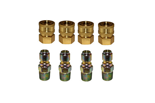 """Pressure Washer Quick Connects - 3/8"""" FPT Socket - 3/8"""" MPT Plug - 4 Pack"""