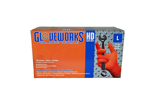 Gloveworks - Heavy Duty - Orange Nitrile - 8 Mil - Large