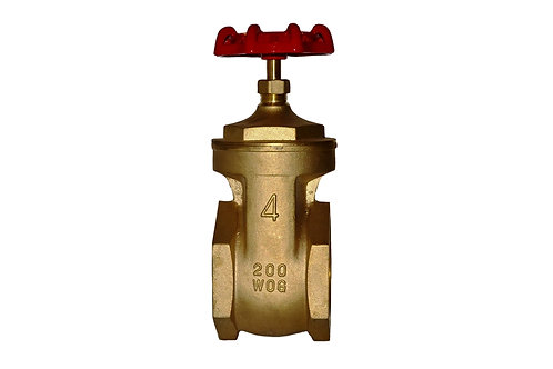 "Gate Valve - 4"" - Full Port - Brass"