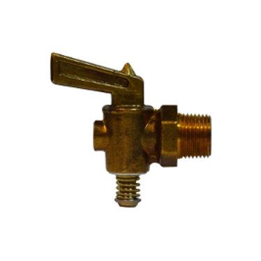 "Drain Cock - Lever Handle - 1/4"" - Brass"