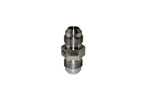 "Hydraulic Adapter - Male Union - 3/8"" Male JIC x 3/8"" Male JIC - Stainless Steel"