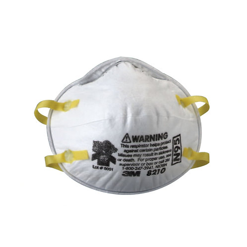 Face Mask - N95 Respirator - Half Facepiece - Non-Oil Based Filter - 20 ct Box