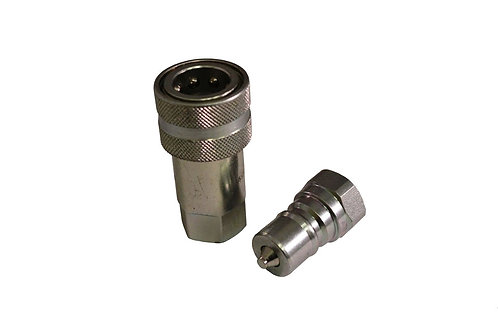 """Hydraulic Quick Coupler - ISO 7241-1 B - 3/8"""" NPT - Complete Set - Stucchi"""