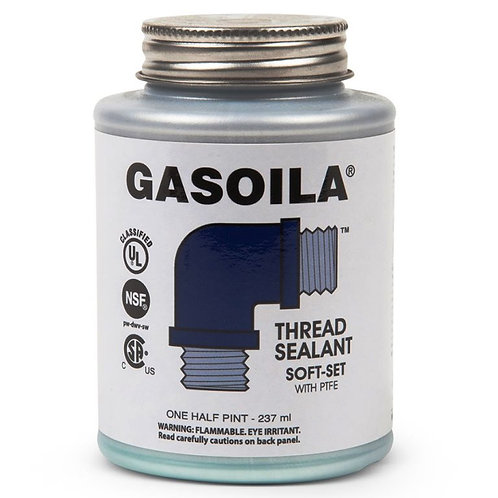 Thread Sealant - Gasoila - Soft-Set with PTFE - 1/2 Pint with Brush