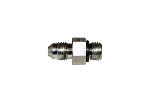 """Hydraulic Adapter - Straight Thread - 1/4"""" Male JIC x 1/4"""" Male ORB - Stainless"""