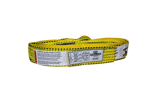 """Lifting Web Sling - 2"""" x 12 FT - One Ply - Flat Eye - Type 3 - Polyester"""
