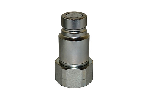 "Hydraulic Quick Coupler - ISO 16028 - Flat Face - Male - 1/2"" Plug x 3/4"" NPT"