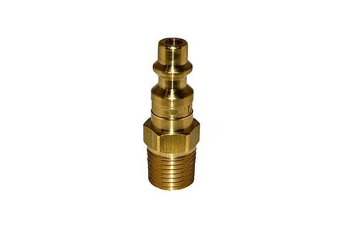 "Industrial Interchange - 1/4"" Plug - 1/4"" Male Pipe Threads - Brass"