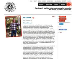 Rob Faulkner - Louisiana Craftsmens Guild