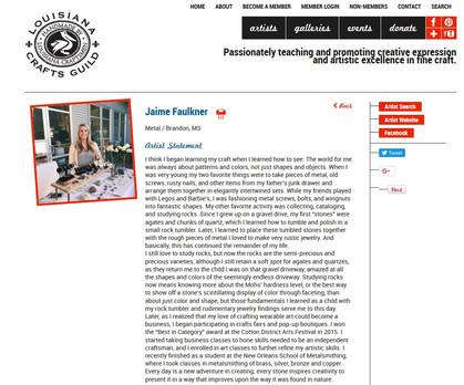 Jaime Faulkner- Louisiana Craftsmen Guild