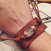 leather bracelet with semi