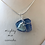 Thumbnail: Blue sea glass necklace
