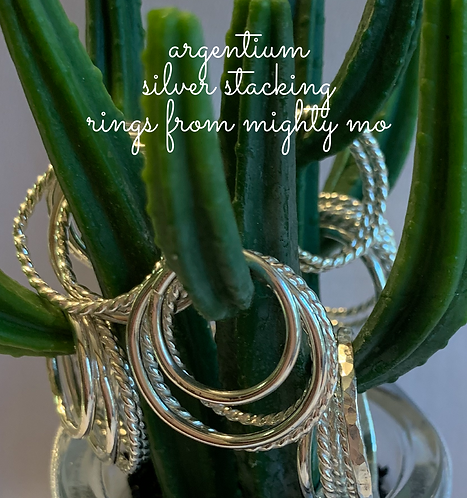 Argentium Sterling Stacking Rings