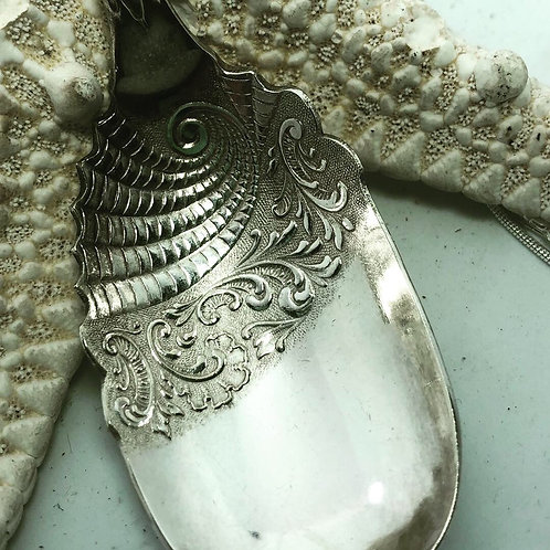 Silver spoon embossed necklace