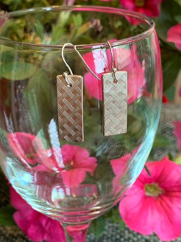 Criss-cross Sterling Earrings