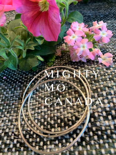 Sterling Silver Bangles: Small