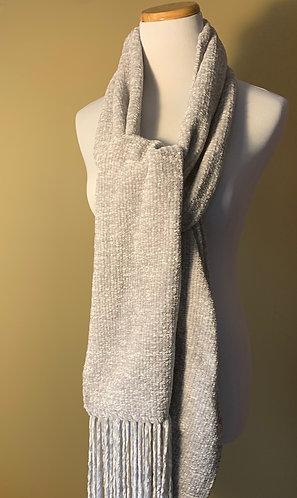 Handwoven Dove Grey Scarf