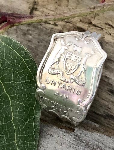 4H Souvenir Spoon Sterling Silver Ring