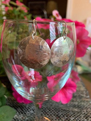 Sterling Silver Domed Earrings