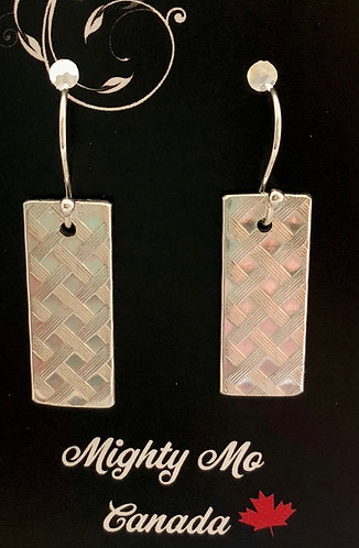 Sterling Silver Criss-Cross Earrings