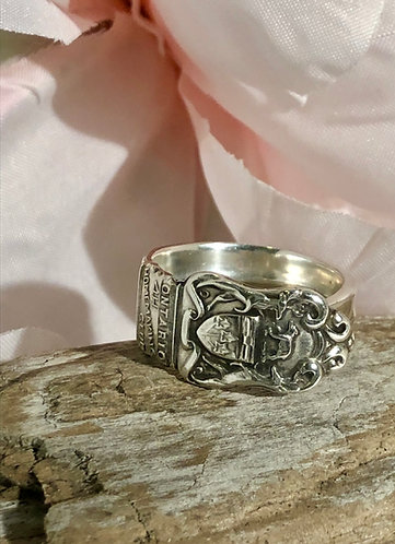 Sterling Silver 4H Spoon Ring