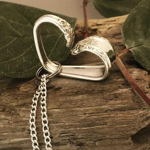 Silverware Heart Necklace