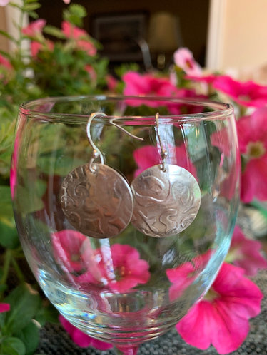 Sterling Silver Domed Earrings