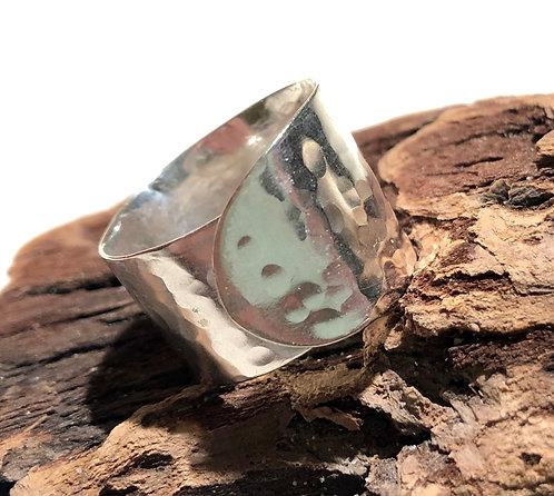 Hammered butterknife Ring