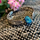 Thumbnail: Upcycled Silverware Bracelet with Blue Druzy
