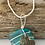 Thumbnail: Wire wrapped sea glass necklace