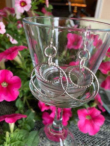 Sterling Silver Double Twisted Hoop Earrings