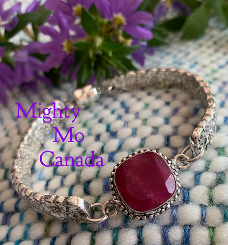 Upcycled Precious Flower Bracelet