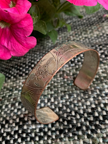 Upcycled Tea Tray Cuff Bracelet