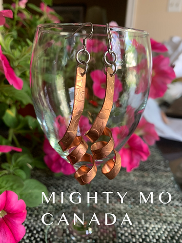 Copper Twirly Earrings