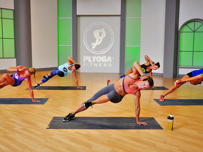 Filming of PLYOGA Workout Series