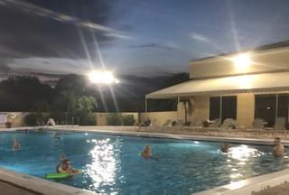 Year-round swimming at night