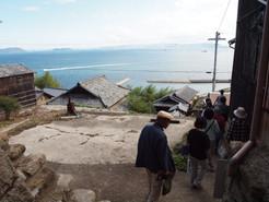 高見島での景観調査